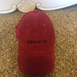 Adidas Baseball cap, corduroy red/maroon